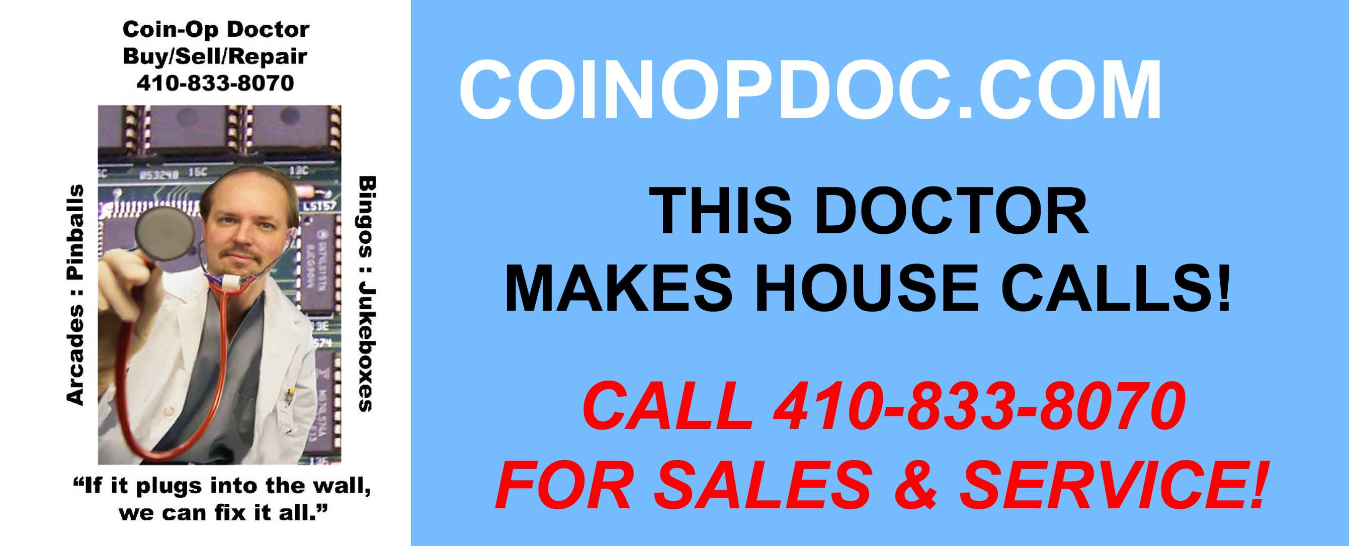 Coin-Op Doctor of Maryland - Sales & Repair Service of